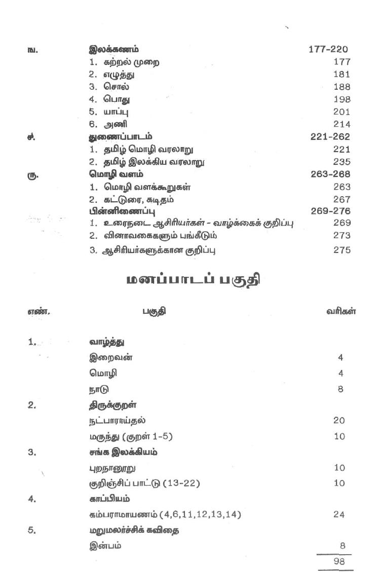 AdvTamil pdf Text Book, Class 11, Tamil Medium,
